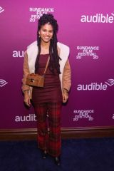 Zazie Beetz At Audible VIP party at Audible Speakeasy in Park City