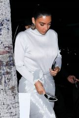 Kim Kardashian Leaves the Midnight Sunday service in Los Angeles
