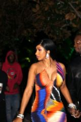 Cardi B Seen at a Grammys After Party in Los Angeles