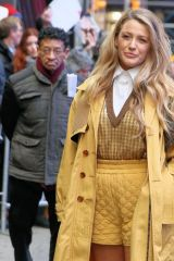 Blake Lively Arrives At Good Morning America in New York City