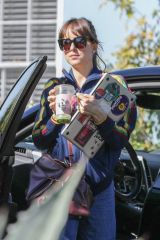 Dakota Johnson Goes to a friend's house in Los Angeles