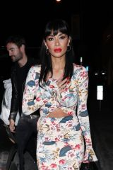Nicole Scherzinger and Thom Evans walk hand in hand as they dine at Catch LA restaurant in West Hollywood