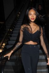 Jourdan Dunn Attends the David Koma LFW Catwalk