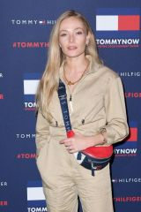 Clara Paget At Tommy Hilfiger show, Fall Winter 2020, London Fashion Week, UK