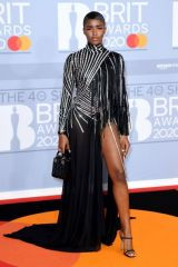 Eva Apio Arriving at the Brit Awards 2020 held at the O2 Arena, London