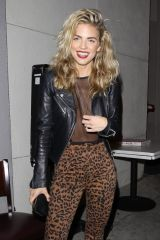 AnnaLynne McCord Posing for pictures as she finishes dinner with a male friend at Craig's in West Hollywood