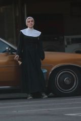 Bella Thorne Seen dressed as a Nun in a Secret New Project Upcoming Film in Los Angeles
