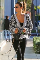 Alessandra Ambrosio Stops by her friend Beauty Institute in West Hollywood
