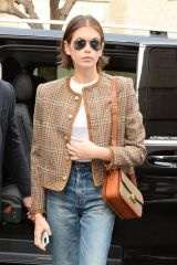 Kaia Gerber Looks chic out during Milan Fashion Week