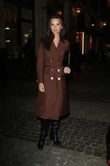 Emily Ratajkowski Arrives at Prada dinner at Fondazione Prada