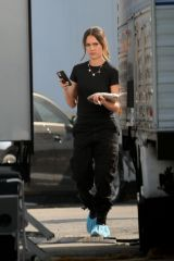 Jessica Alba On the set of L.A 's Finest, filming in Los Angeles