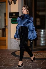 Olivia Culpo Out at Milan Fashion Week Fall / Winter 2020-2021 in Milan