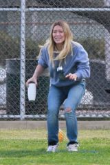 Hilary Duff At her son's football game in Los Angeles