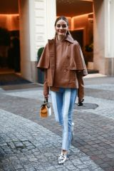 Olivia Palermo Leaving her hotel during Milan fashion week in Milan