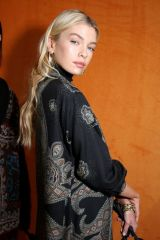 Stella Maxwell Backstage Etro show, Backstage, Fall Winter 2020, Milan Fashion Week, Italy
