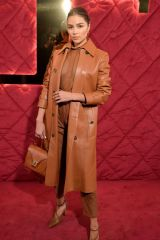 Olivia Culpo In the front row Tod's show, Front Row, Fall Winter 2020, Milan Fashion Week, Italy