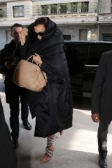 Irina Shayk Pictured leaving her hotel in Milan during fashion week