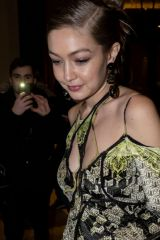 Gigi Hadid Seen leaving the Versace after party during the Milan Fashion Week in Milan, Italy