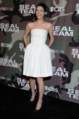 Jessica Pare At 'SEAL Team' midseason premiere in Los Angeles