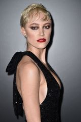 Maika Monroe At Saint Laurent Show in Paris