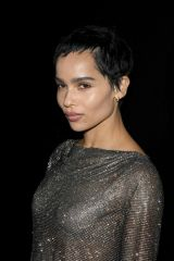 Zoe Kravitz At Saint Laurent show at Paris Fashion Week Womenswear F/W 20/21