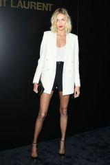 Anja Rubik At Saint Laurent show at Paris Fashion Week Womenswear F/W 20/21