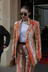 Gigi Hadid Leaves the Royal Monceau hotel in Paris, France