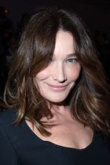 Carla Bruni At Dior show, Front Row, Fall Winter 2020, Paris Fashion Week, France