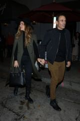 Maria Menounos and Keven Undergaro are seen outside Craig's Restaurant in West Hollywood