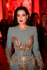 Dita Von Teese At Opening of L'Exibition[niste] by Christian Louboutin as part of Paris Fashion Week, France