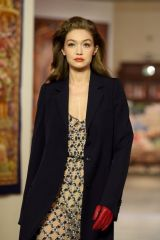 Gigi Hadid Walking for Lanvin Fall/Winter 2020 fashion show in Paris