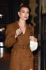 Hailey Bieber Arrives at Ferdi restaurant in Paris