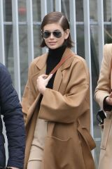 Kaia Gerber Seen in Paris for Fashion Week Womenswear Fall/Winter 2020/2021