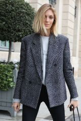 Anja Rubik Seen arriving at hotel Ritz during Women's Fall Winter Paris Fashion Week