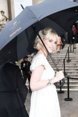 Lucy Boynton Arriving at the Chloe fashion show in Paris