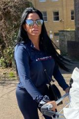 Katie Price aka Jordan gets fully dressed and stocks up on Marks and Spencer's groceries