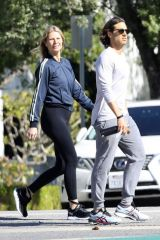 Gwyneth Paltrow and Brad Falchuk take an afternoon walk
