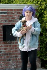 Kelly Osbourne Spotted leaving her brother Jack's house in Los Angeles