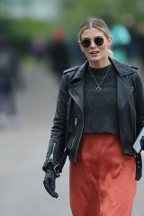 Ashley James Walking her dog in London