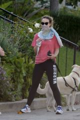 Olivia Wilde Walking her dog in Los Angeles