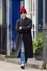 Lily James Out for a stroll in London