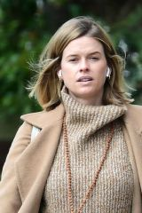 Alice Eve Out and about in London