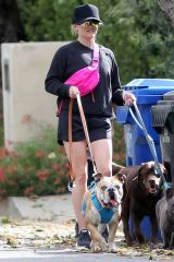Reese Witherspoon Walking her dogs in Pacific Palisades