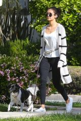 Nina Dobrev Taking Maverick a walk in LA