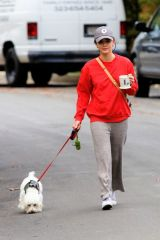 Lucy Hale Walking Elvis in Los Angeles