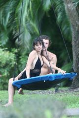 Camila Cabello Chilling by a swing in Florida