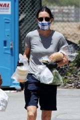 Courteney Cox Shopping at a farmer's Market in Malibu