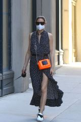 Olivia Palermo Taking her dog 'Mr Butler' out for a walk in Downtown, Manhattan