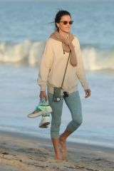 Alessandra Ambrosio Out at a Beach in Malibu