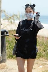 Nicole Williams Seen on the beach in Malibu